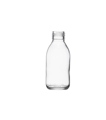 Picture of Syrup Bottle - clear glass - 125 ML  - ROPP28