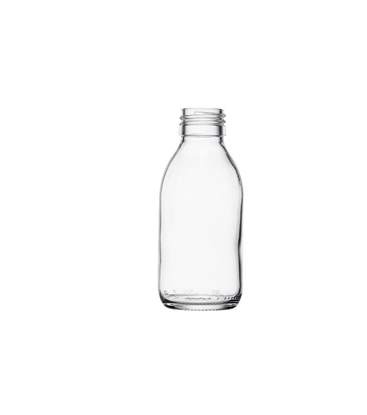Picture of Syrup Bottle - clear glass - 150 ML  - ROPP28