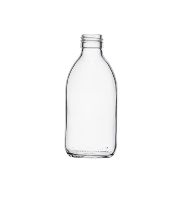 Picture of Syrup Bottle - clear glass - 250 ML  - ROPP28
