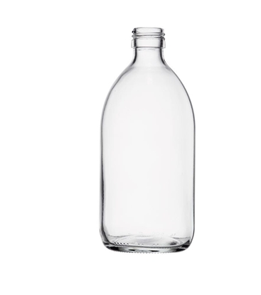 Picture of Syrup Bottle - clear glass - 500 ML  - ROPP28