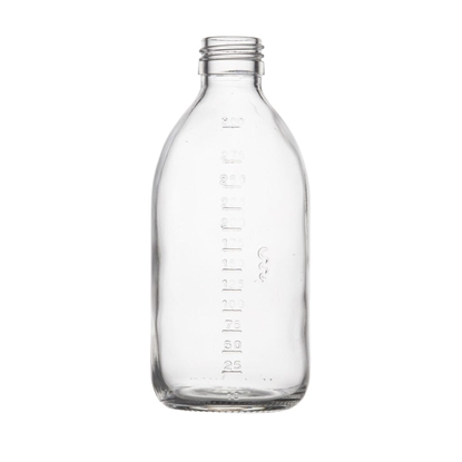 Picture of Graduated Syrup Bottle - clear glass - 300 ML  - ROPP28