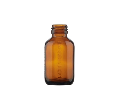 Picture of Octagonal bottle - brown glass - 100 ml - PP28