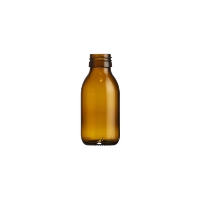 Picture of Syrup Bottle - amber glass - 100 ML  - ROPP28