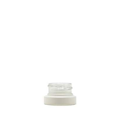 Picture of Thick wall glass concentrate jar - Matte White Frosted - Child resistant - 5 ml - 28/400