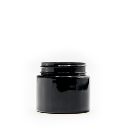Picture of Straight sided plastic jar - Opaque black PET - Child resistant - Airtight - 30 dram - 100ml - 53/400
