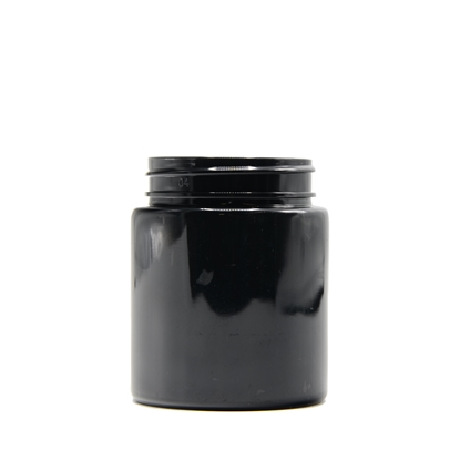 Picture of Straight sided plastic jar - Opaque black PET - Child resistant - Airtight - 40 dram - 120ml - 53/400