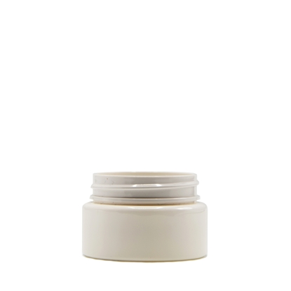 Picture of Straight sided plastic jar - Opaque white PET - Child resistant - Airtight - 2oz - 60ml - 53/400