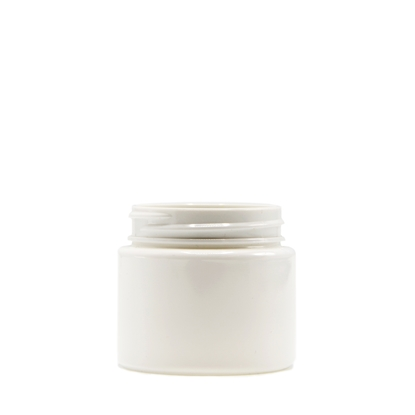 Picture of Straight sided plastic jar - Opaque white PET - Child resistant - Airtight - 30 dram - 100ml - 53/400