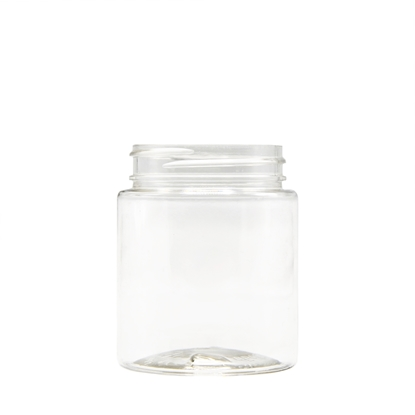 Picture of Straight sided plastic jar - Clear PET - Child resistant - Airtight - 40 dram - 120ml - 53/400