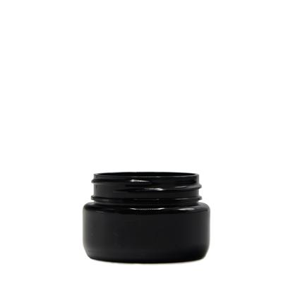 Picture of Round Base PET Designer Jar - Child Resistant - Black - 2 oz - 60 ml - 53/400