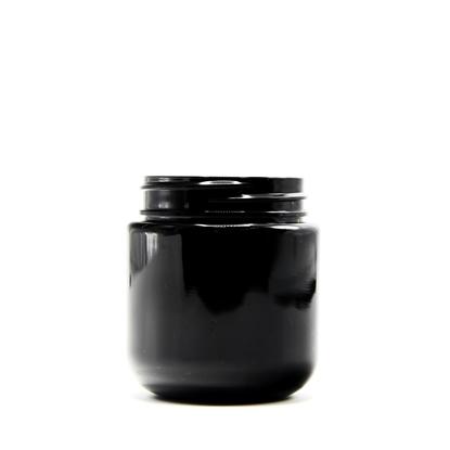 Picture of Round Base PET Designer Jar - Child Resistant - Black - 4 oz - 120 ml - 53/400