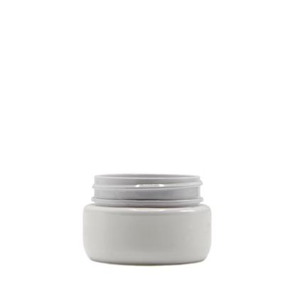 Picture of Round Base PET Designer Jar - Child Resistant - White - 2 oz - 60 ml - 53/400