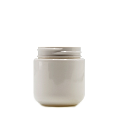 Picture of Round Base PET Designer Jar - Child Resistant - White - 4 oz - 120 ml - 53/400