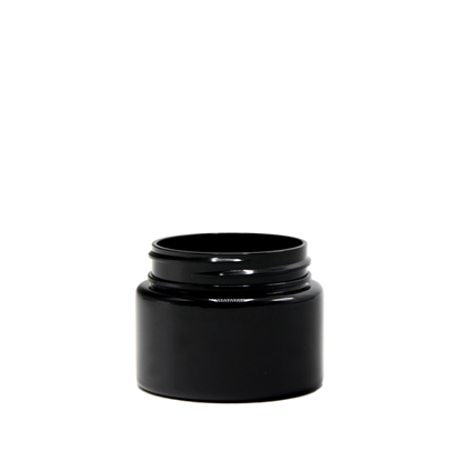 Picture of Straight sided plastic jar - Opaque black PET - Child resistant - Airtight - 20 dram - 75ml - 53/400