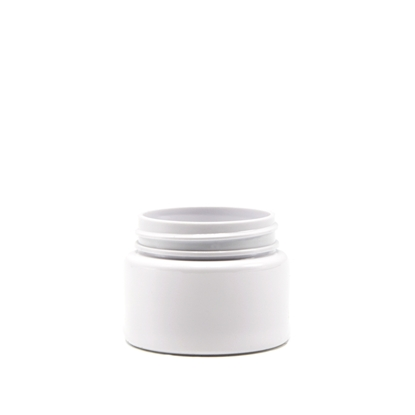 Picture of Straight sided plastic jar - Opaque white PET - Child resistant - Airtight - 20 dram - 75ml - 53/400